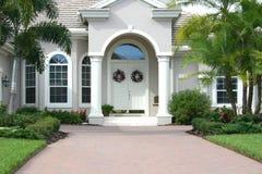Elegant Entrance to Beautiful Home Stock Photos