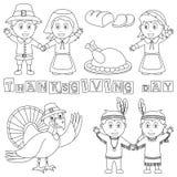 Elementi di ringraziamento di coloritura Immagine Stock Libera da Diritti