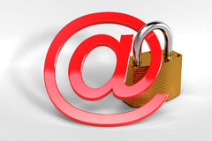Email security concept Stock Photos