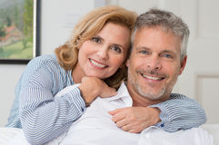Embracing Mature Couple Stock Images