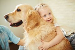 Embracing pet Stock Images