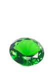 Emerald round brilliant Royalty Free Stock Photos