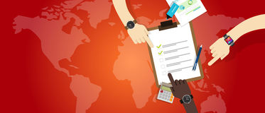 Emergency plan team work management preparation cooperation Royalty Free Stock Photography