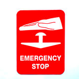 Emergency stop sign Royalty Free Stock Images