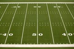 Empty American Football Field  Royalty Free Stock Photos