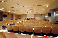 Empty conference hall Stock Photography