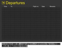 Empty International Airport Departures Board Royalty Free Stock Photos