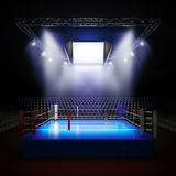 Empty professional boxing ring. Stock Image