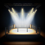 Empty professional boxing ring. Royalty Free Stock Image