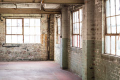 Empty warehouse office or commercial area, industrial background Stock Image