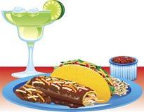 Enchilada meal Stock Photo