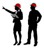 Engineer and foreman working Stock Photography