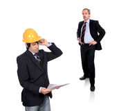 Enginner and Business Contractor Royalty Free Stock Photo