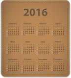 2016 English calendar Stock Photography
