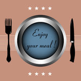 Enjoy your meal Stock Photography