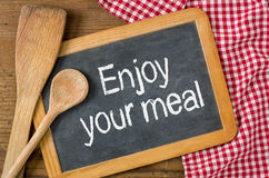 Enjoy your meal Stock Photo