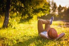 Enjoying the nature Stock Images