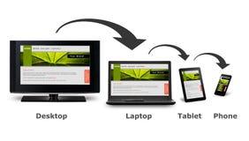 Entgegenkommende Web-Auslegung Stockfotografie