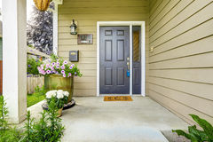 Entrance porch with concrete floor Royalty Free Stock Photo