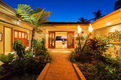 Entrance to Luxury Home Stock Image