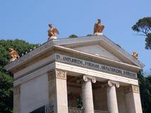 Entrance to Villa Borghese Gardens Stock Photo