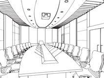 Entwurfsskizze eines Innenraums Stockfoto