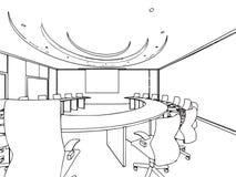 Entwurfsskizze eines Innenraums Stockbilder