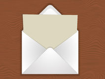 Envelope with blank Stock Photography