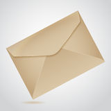 Envelope of brown paper Stock Image