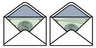 Envelope with money Royalty Free Stock Photo