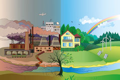 Environmental pollution and environment protection Stock Image