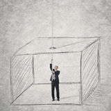 Escape from a box Royalty Free Stock Photos