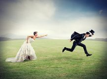 Escape from marriage Royalty Free Stock Photos