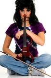 Esecutore di musica, violinista Fotografia Stock Libera da Diritti