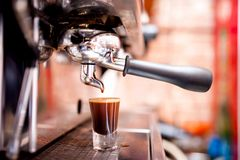 Espresso machine making special strong coffee Stock Image