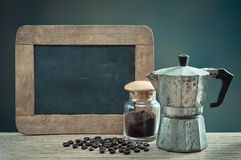 Espresso with slate Royalty Free Stock Photo
