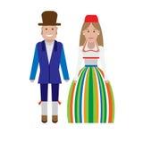 Estonian national dress Royalty Free Stock Images