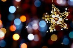 Estrela do Natal com luzes Foto de Stock