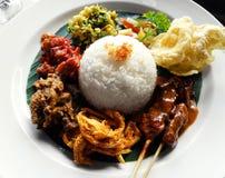 Ethnic asian food, nasi campur Royalty Free Stock Photos