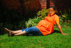 Ethnic pregnant woman Royalty Free Stock Photos