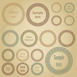 Ethnic round frames of different size with sample text Stock Photography