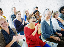 Ethnicity Audience Crowd Seminar Cheerful Community Concept Royalty Free Stock Image