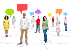 Ethnicity Business People Chat Communications Network Concept Stock Images