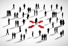 Ethnicity Business People Discussion Arrows Concept Stock Photo
