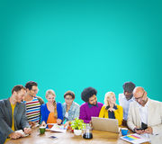 Ethnicity People Brainstorming Security Protection Concept Stock Photography