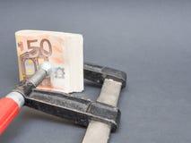 Eurogeld in einem Laster Lizenzfreie Stockfotos