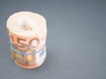 Eurogeldrolle Lizenzfreie Stockfotos