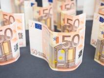 Eurogeldzusammenfassung Stockbilder