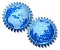 Europe and asia partnership Stock Photos