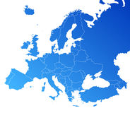 Europe vector map Royalty Free Stock Photography